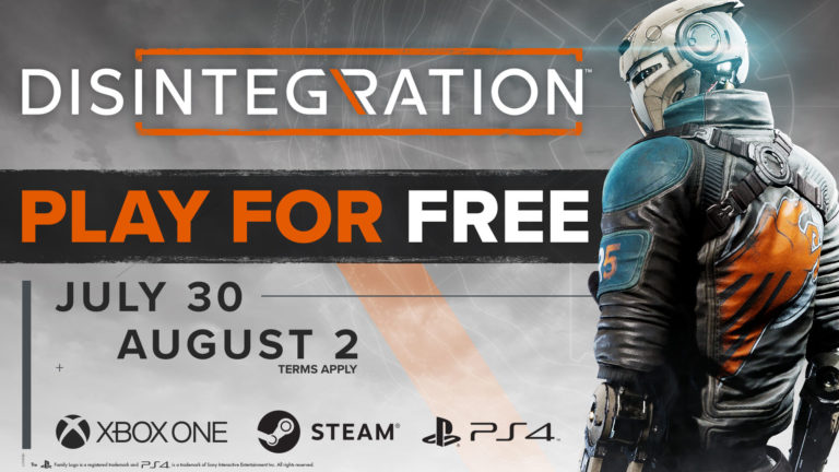 disintegrtion gratis spelhelg